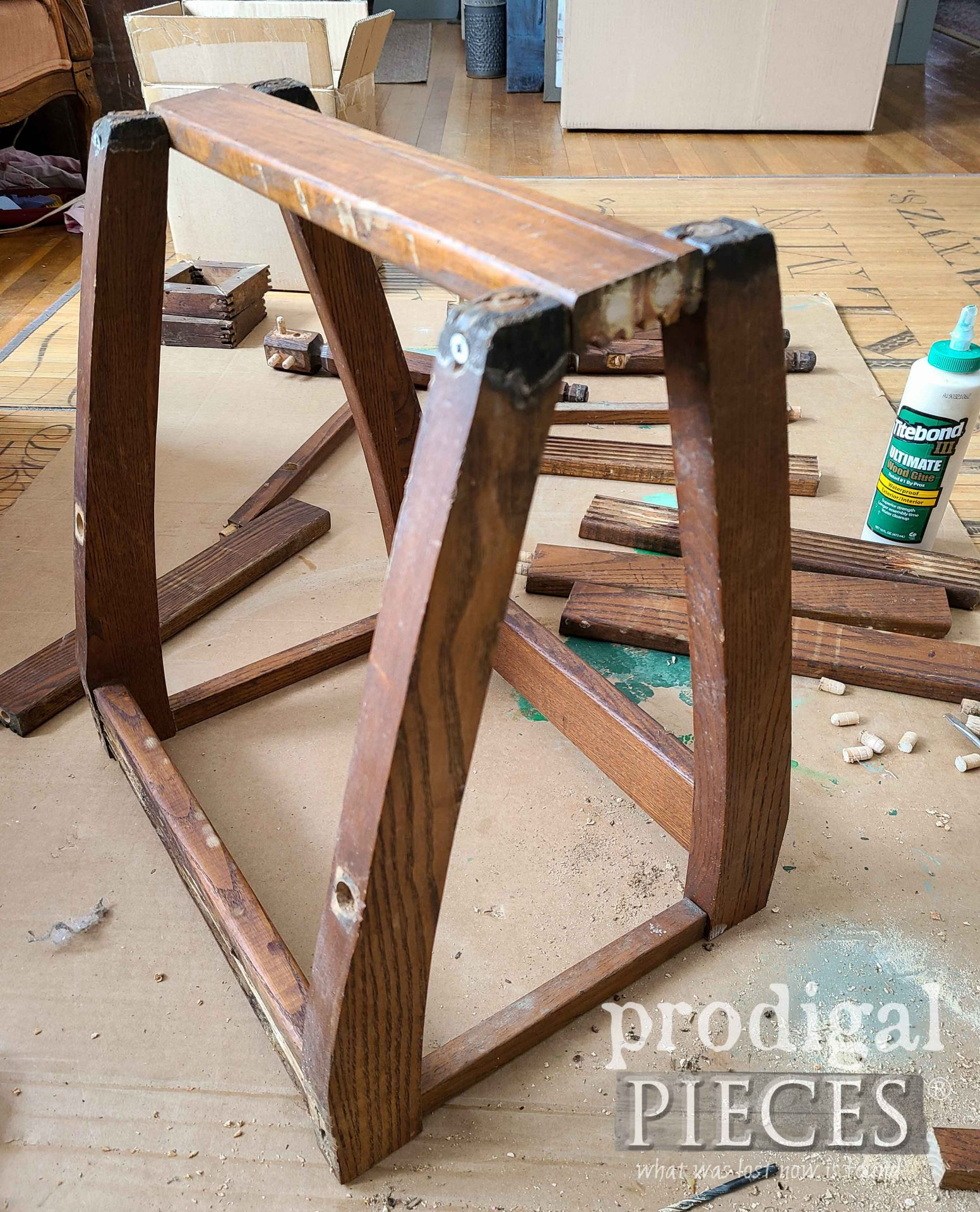 DIY Cat Cave Frame from Upcycled Chair Parts | prodigalpieces.com