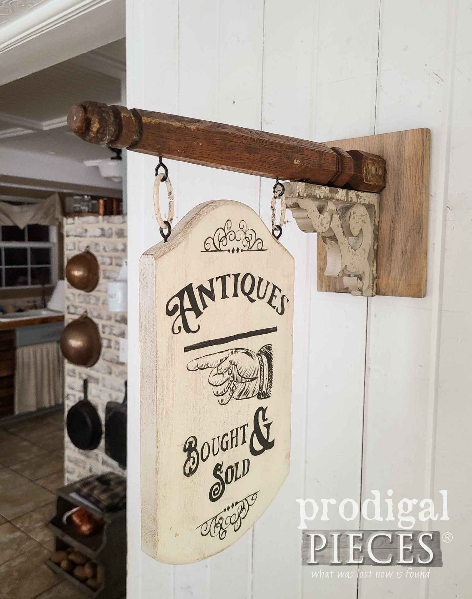 Farmhouse Antique Sign made from Upcycled Chair Legs by Larissa of Prodigal Pieces | prodigalpieces.com #prodigalpieces #farmhouse #home #handmade #upcycled