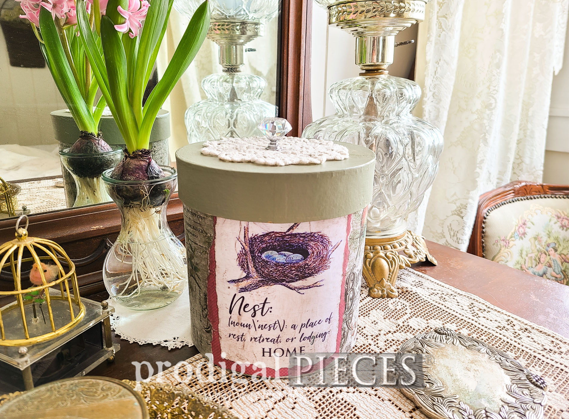 Featured DIY Decoupage Box with Vintage Bird Style by Larissa of Prodigal Pieces | prodigalpieces.com #prodigalpieces #diy #decoupage #home #homedecor
