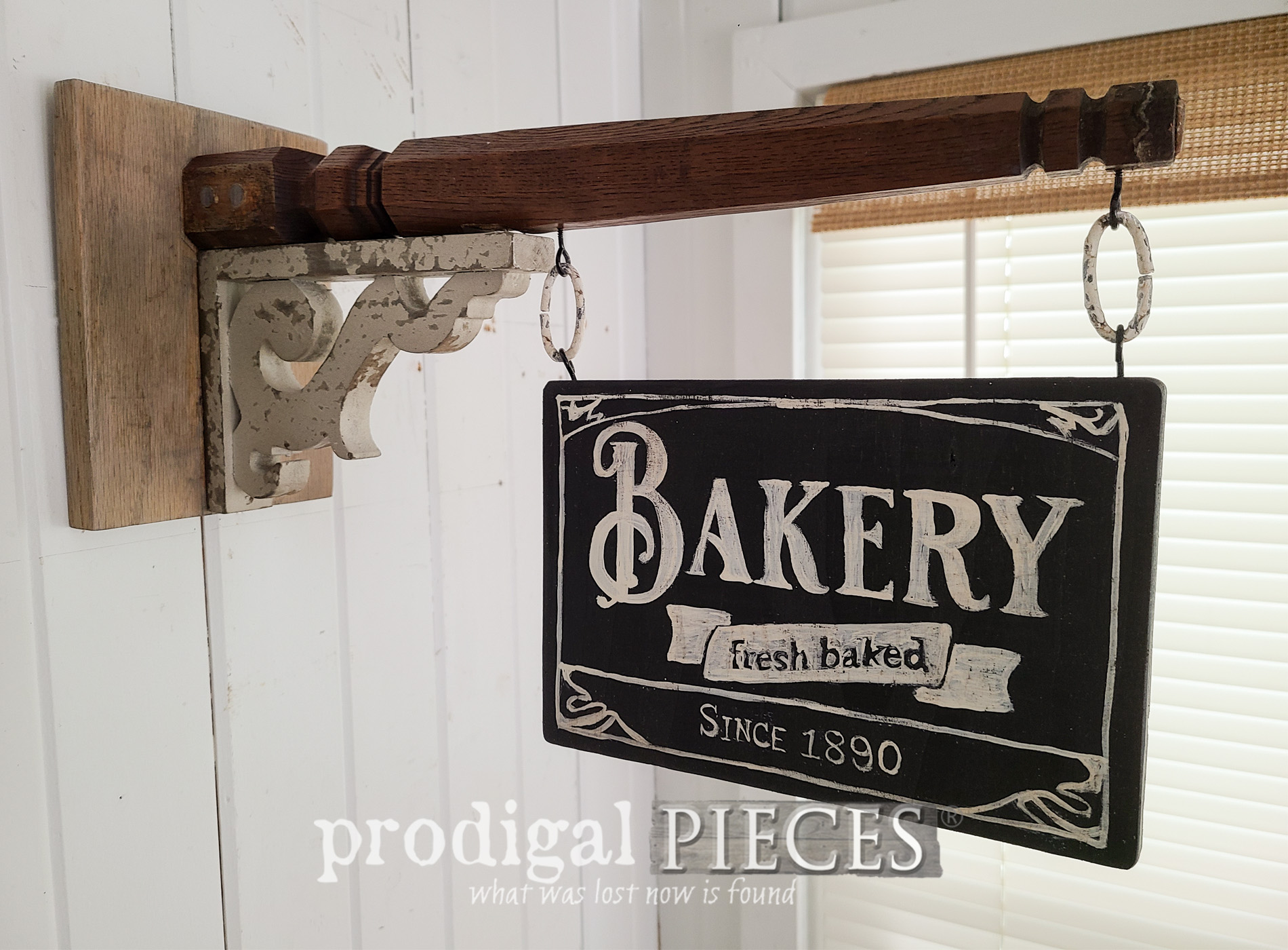 Featured Upcycled Chair Legs Turned Architectural Salvage Signs by Larissa of Prodigal Pieces | prodigalpieces.com #prodigalpieces #diy #farmhouse #upcycled #home #homedecor