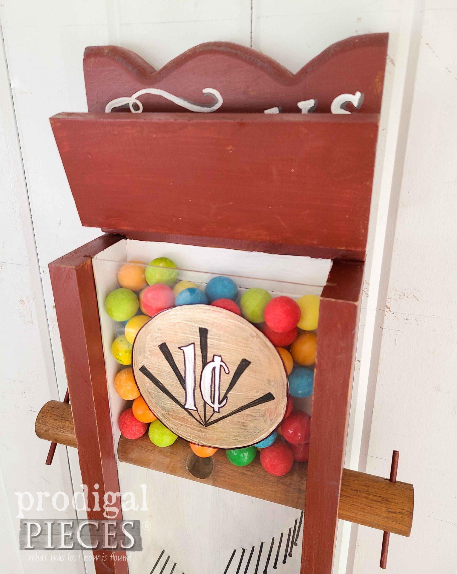 Filling Gumball Machine with Yum | prodigalpieces.com #prodigalpieces #vintage #handmade #vintage