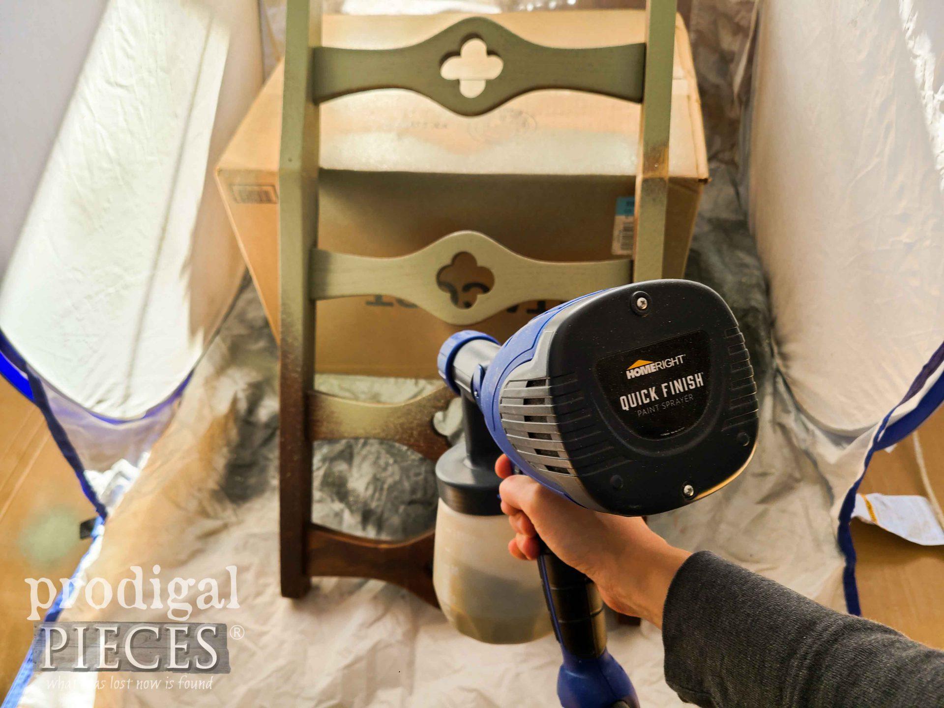 HomeRight Quick Finish Sprayer for Salvaged Spring Decor by Larissa of Prodigal Pieces | prodigalpieces.com #prodigalpieces