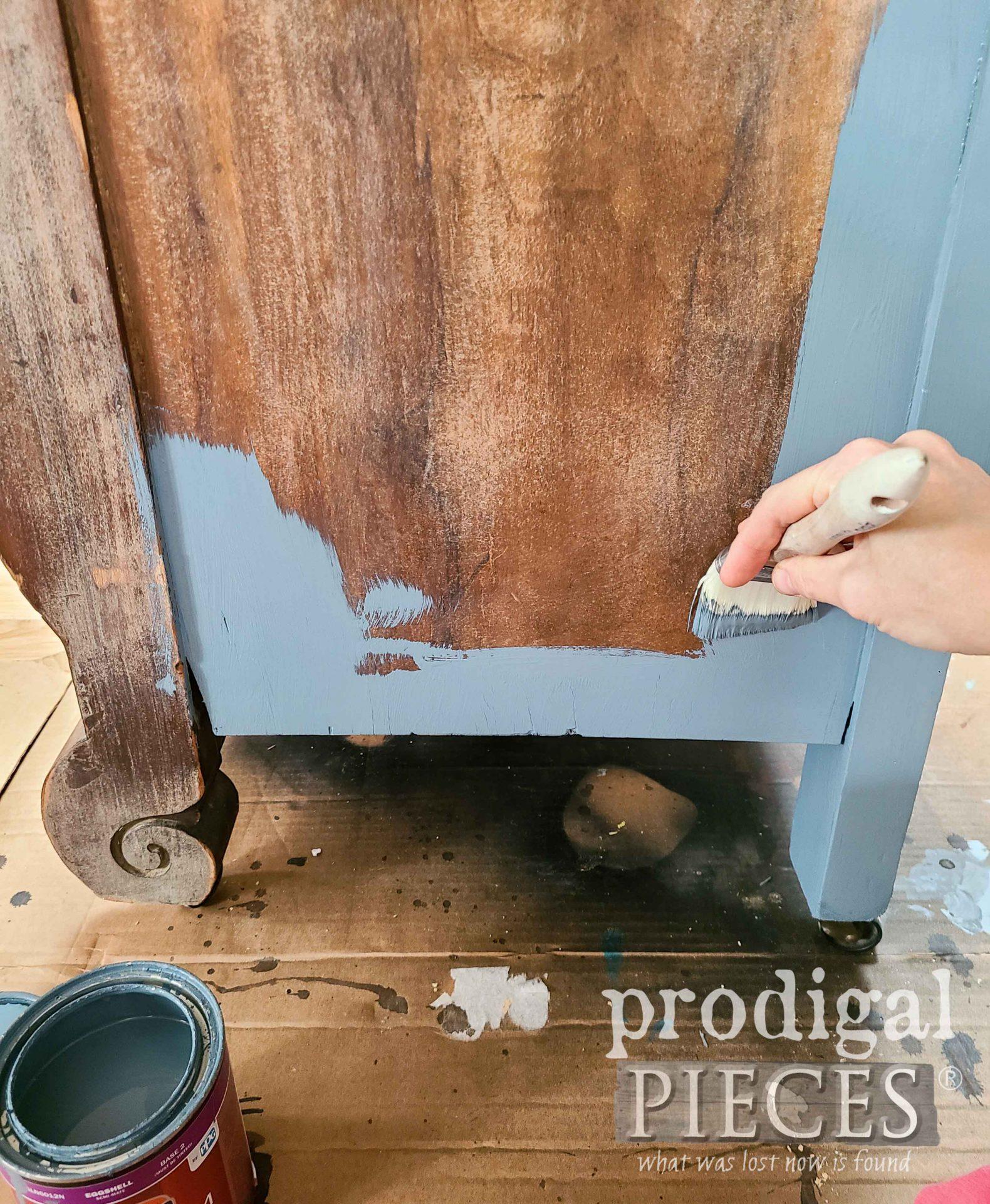 Painting Antique Empire Chest Bench Blue | prodigalpieces.com