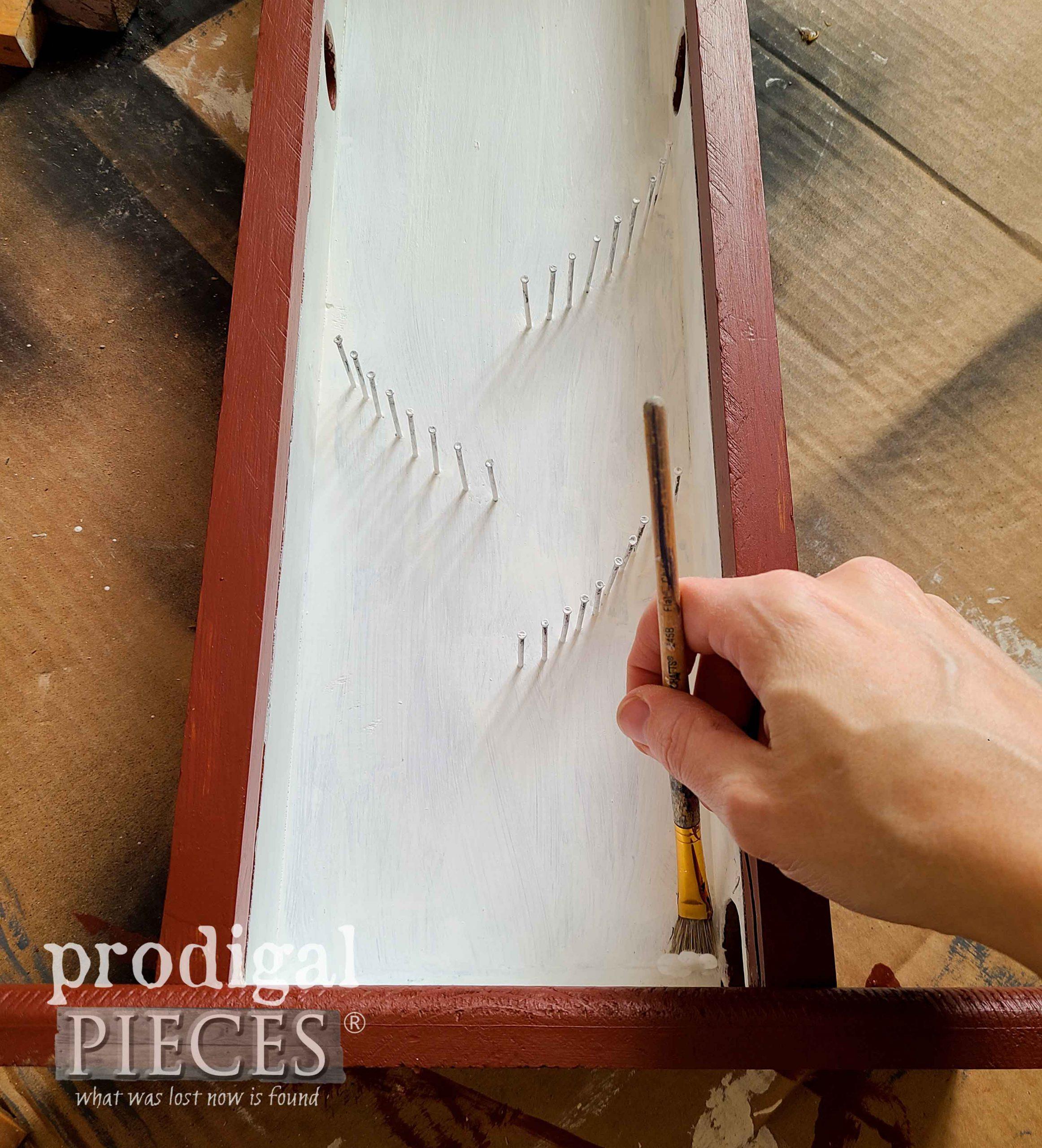 Painting Handmade Gumball Machine Interior | prodigalpieces.com