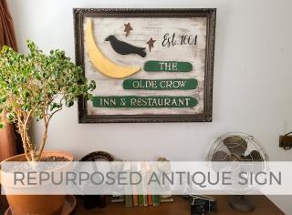 DIY Repurposed Antique Sign by Larissa of Prodigal Pieces   prodigalpieces.com #prodigalpieces
