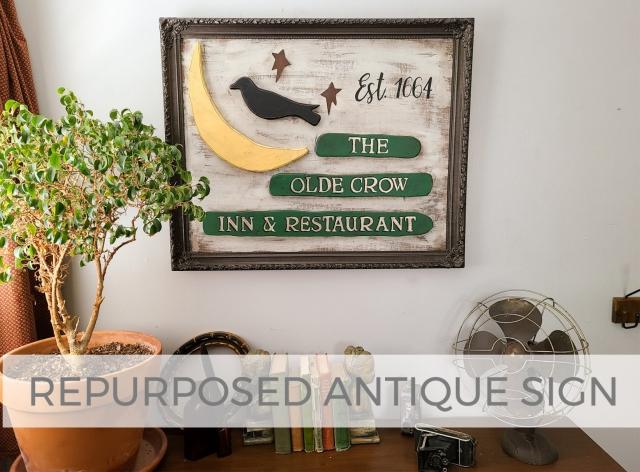 DIY Repurposed Antique Sign by Larissa of Prodigal Pieces | prodigalpieces.com #prodigalpieces