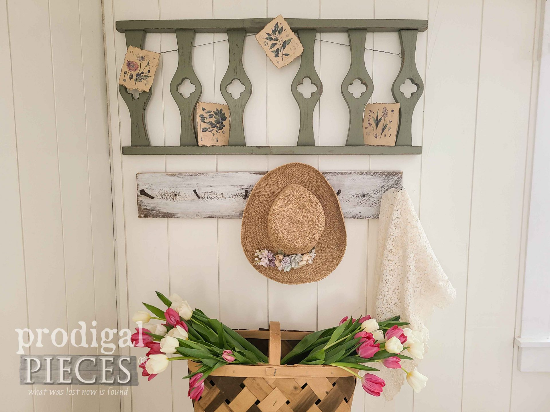 Repurposed Chairs for Salvaged Spring Decor by Larissa of Prodigal Pieces | prodigalpieces.com #prodigalpieces #spring #diy #home #homedecor