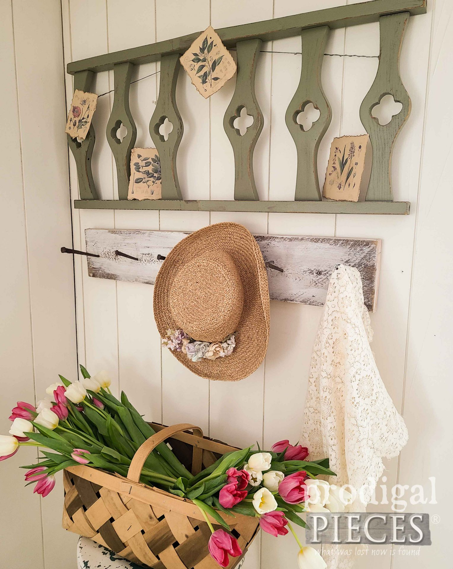 Thrifted Spring Decor Made from Salvaged Finds by Larissa of Prodigal Pieces | prodigalpieces.com #prodigalpieces #spring #farmhouse #diy