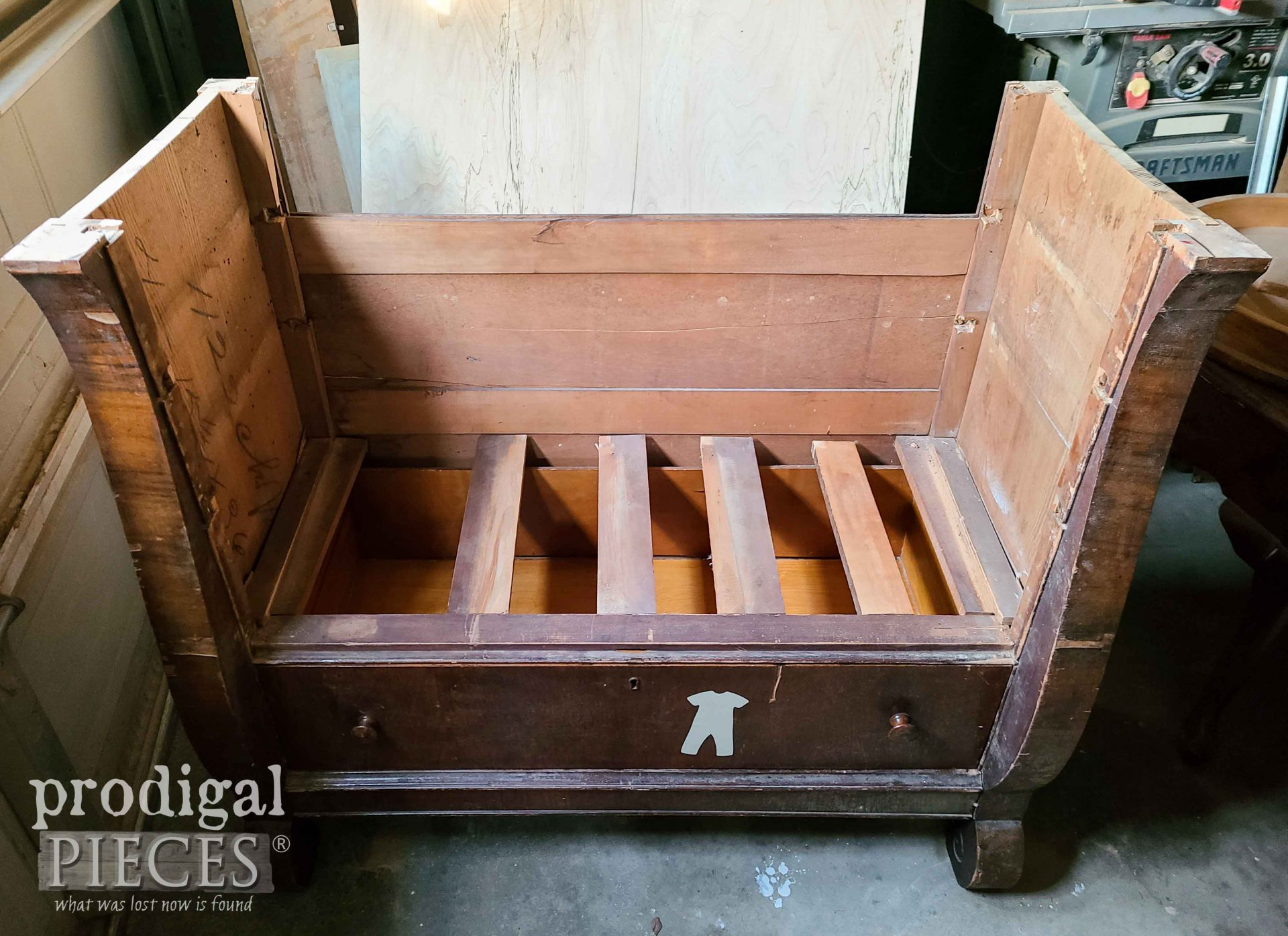 Upcycled Chest of Drawers Bench Dry Fit by Prodigal Pieces | prodigalpieces.com