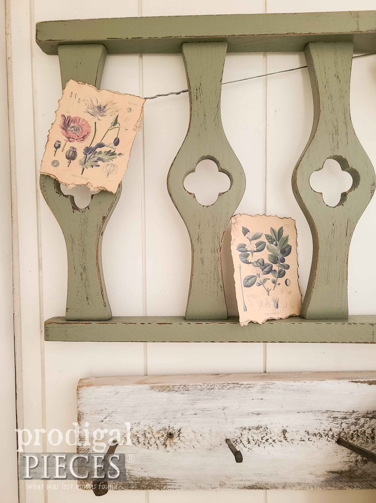 Upcycled Chair Backs for Salvaged Spring Decor by Larissa of Prodigal Pieces | prodigalpieces.com #prodigalpieces #art #diy #home #homedecor