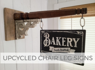 Upcycled Chair Leg Sign for Farmhouse Decor by Larissa of Prodigal Pieces | prodigalpieces.com #prodigalpieces