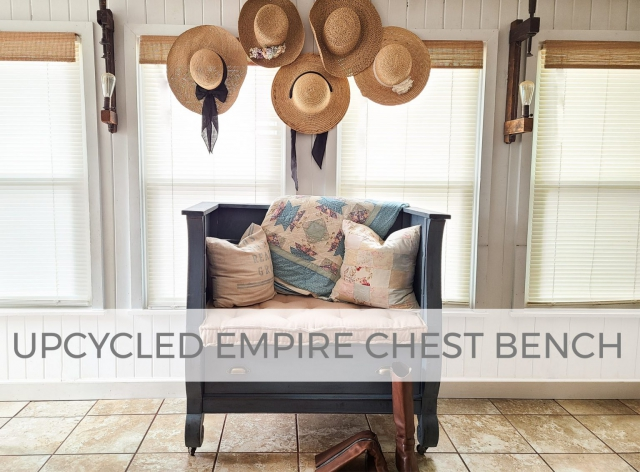 Upcycled Empire Chest Bench by Larissa of Prodigal Pieces | prodigalpieces.com #prodigalpieces