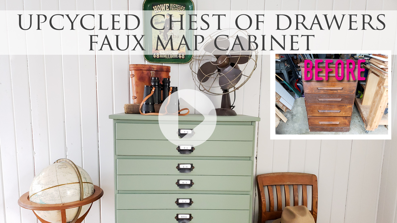 Video Tutorial Upcycled Map Chest by Larissa of Prodigal Pieces | prodigalpieces.com #prodigalpieces