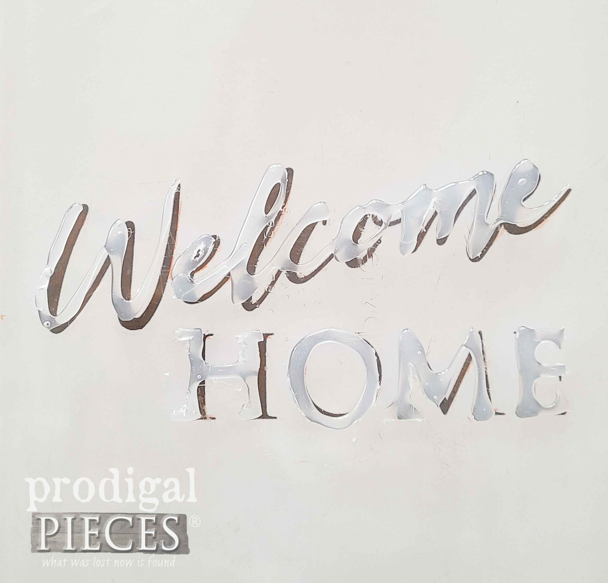 Welcome Home Hot Glue Typography by Larissa of Prodigal Pieces | prodigalpieces.com #prodigalpieces