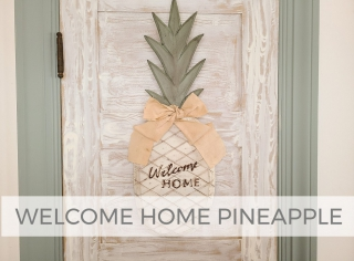 DIY Welcome Home Pineapple Sign by Larissa of Prodigal Pieces | prodigalpieces.com #prodigalpieces