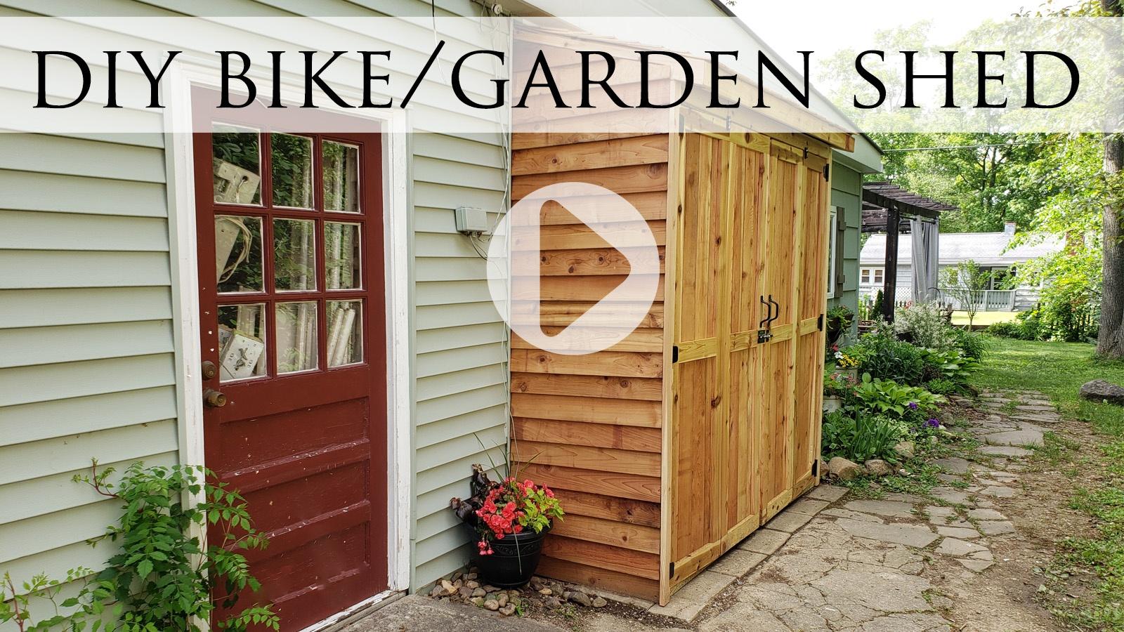 DIY Cedar Bike Shed Video Tutorial by Larissa of Prodigal Pieces | prodigalpieces.com #prodigalpieces