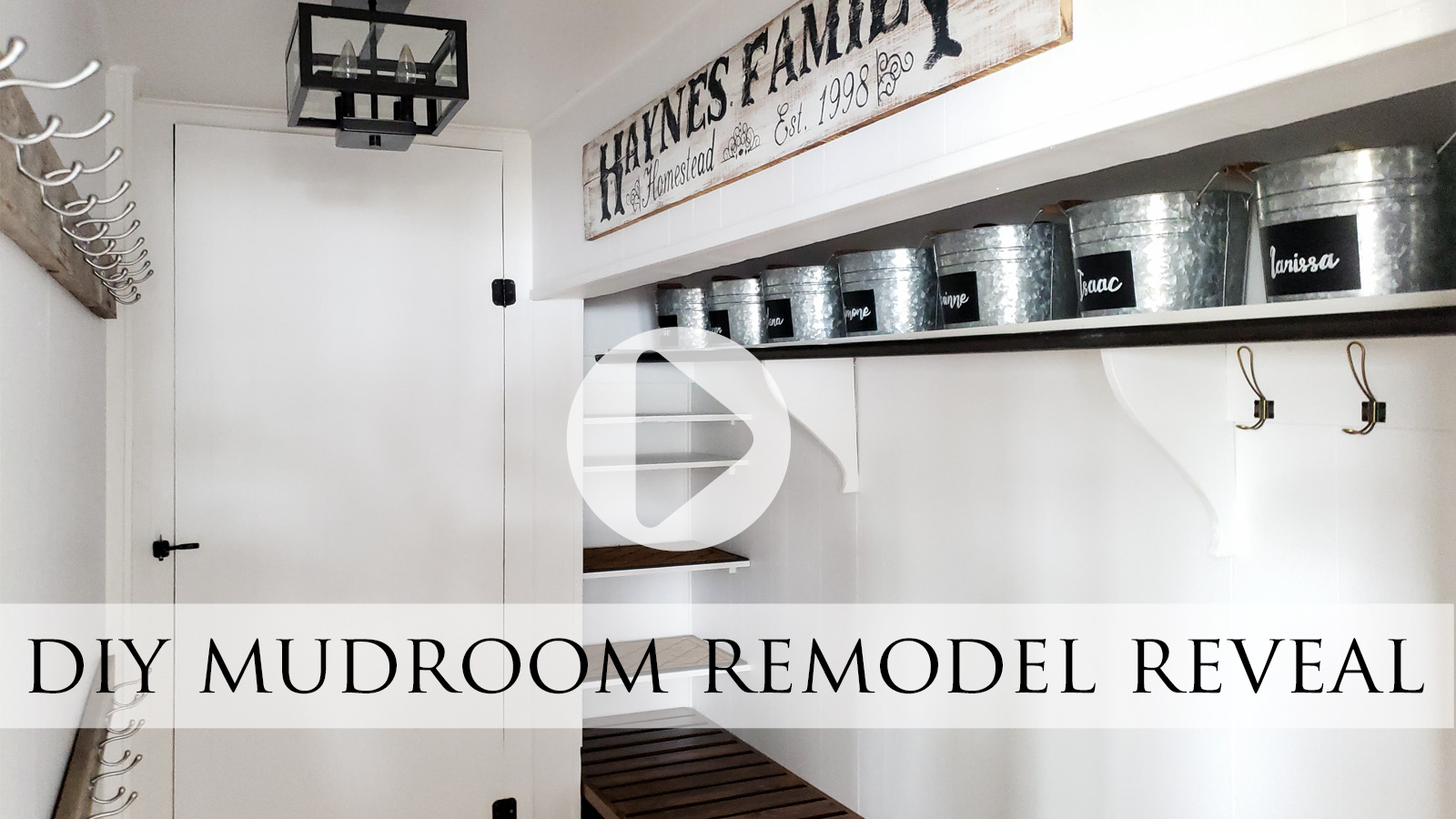 DIY Mudroom Remodel with DIY Storage Video Tour by Larissa of Prodigal Pieces | prodigalpieces.com #prodigalpieces
