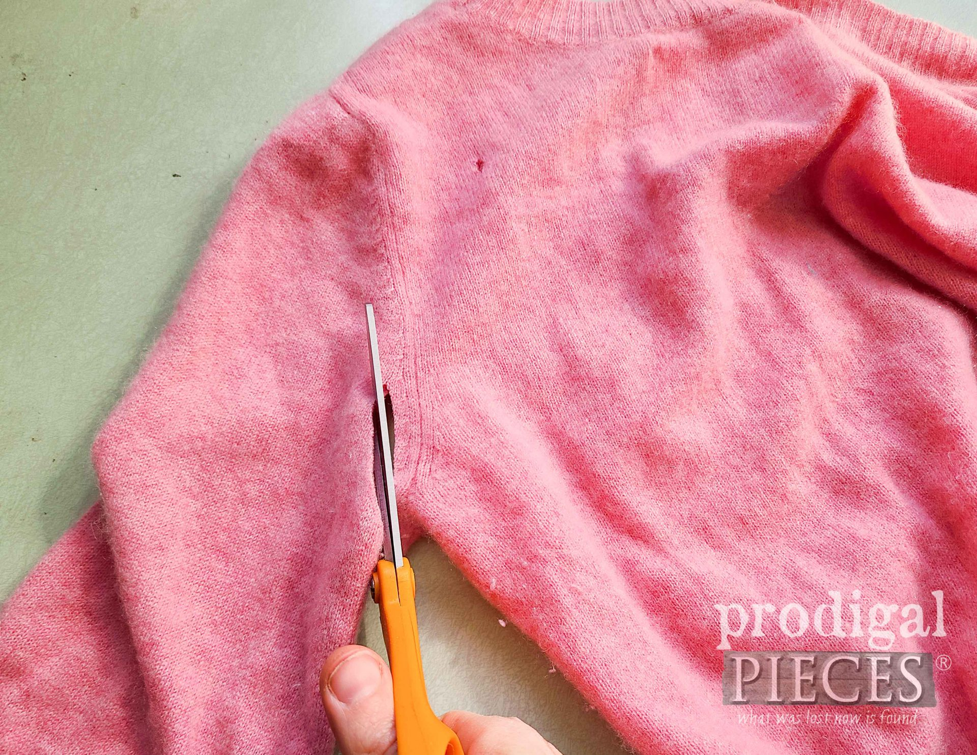 Cutting Cashmere Sweater Sleeve | prodigalpieces.com