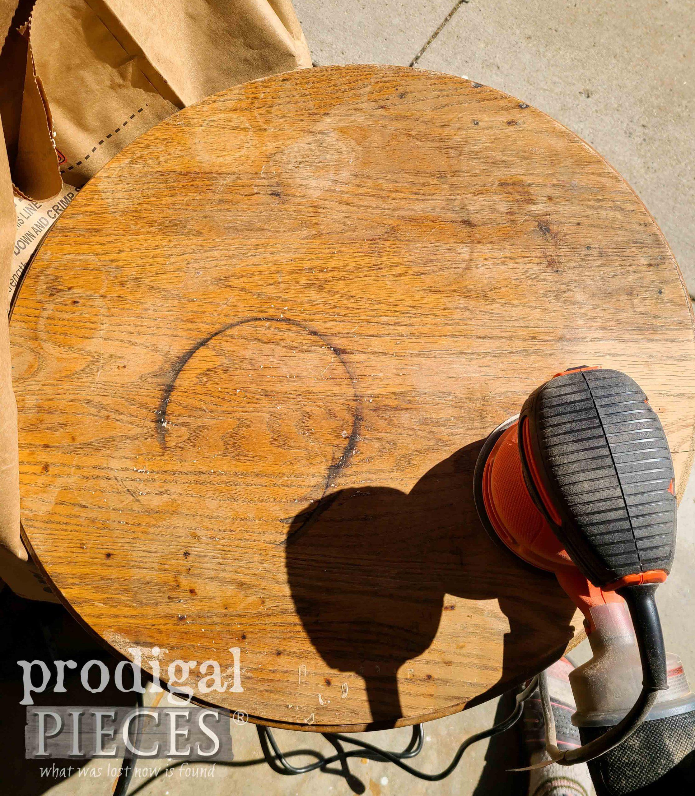 Damaged Oak Pedestal Table Top | prodigalpieces.com