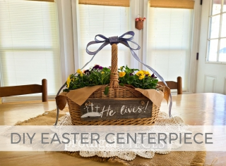 DIY Easter Centerpiece on a Budget by Larissa of Prodigal Pieces | prodigalpieces.com #prodigalpieces