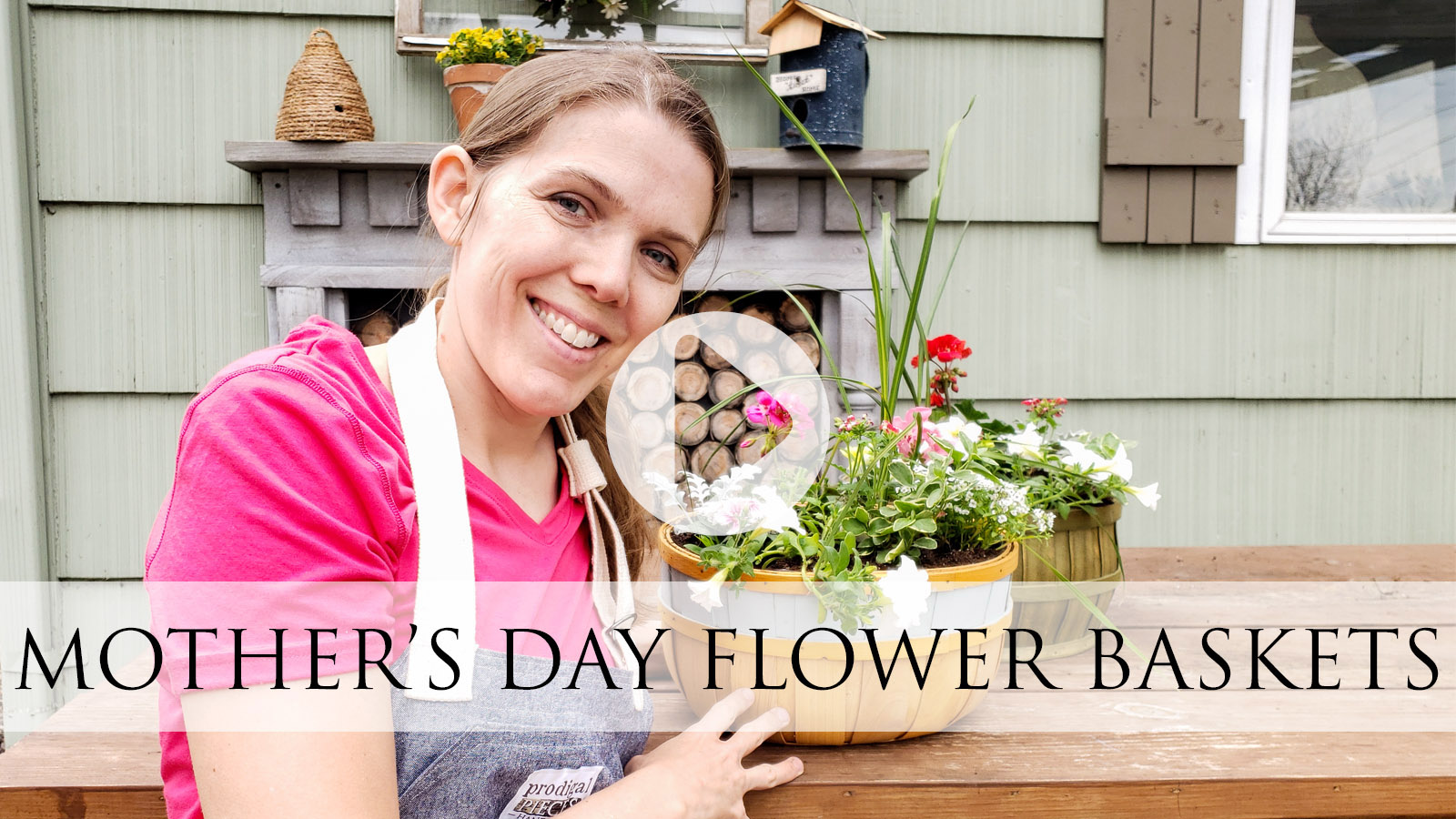 DIY Mother's Day Flower Basket Video Tutorial by Larissa of Prodigal Pieces | prodigalpieces.com