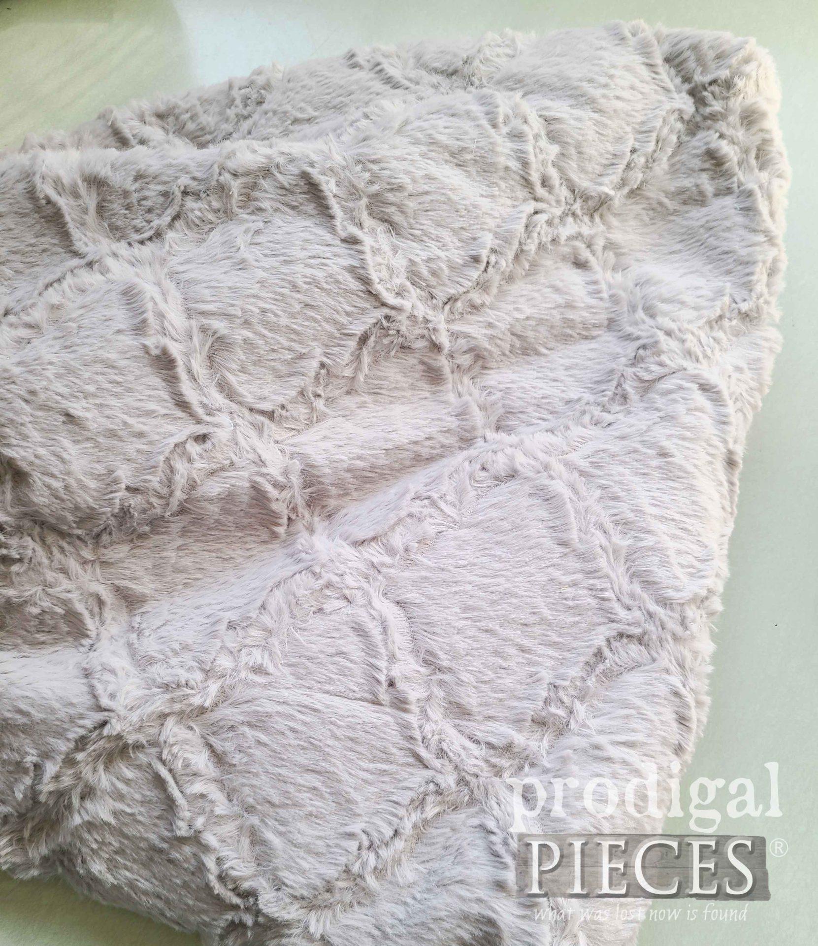 Gray Faux Fur Fabric | prodigalpieces.com