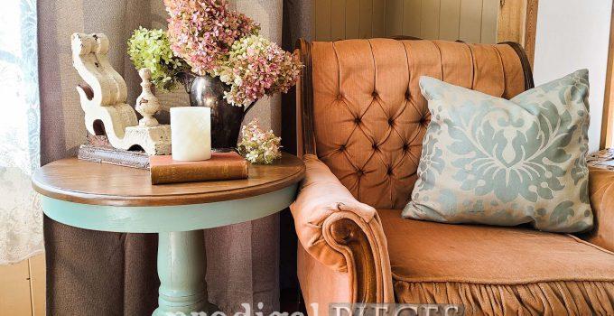Oak Pedestal Table Makeover & Repair