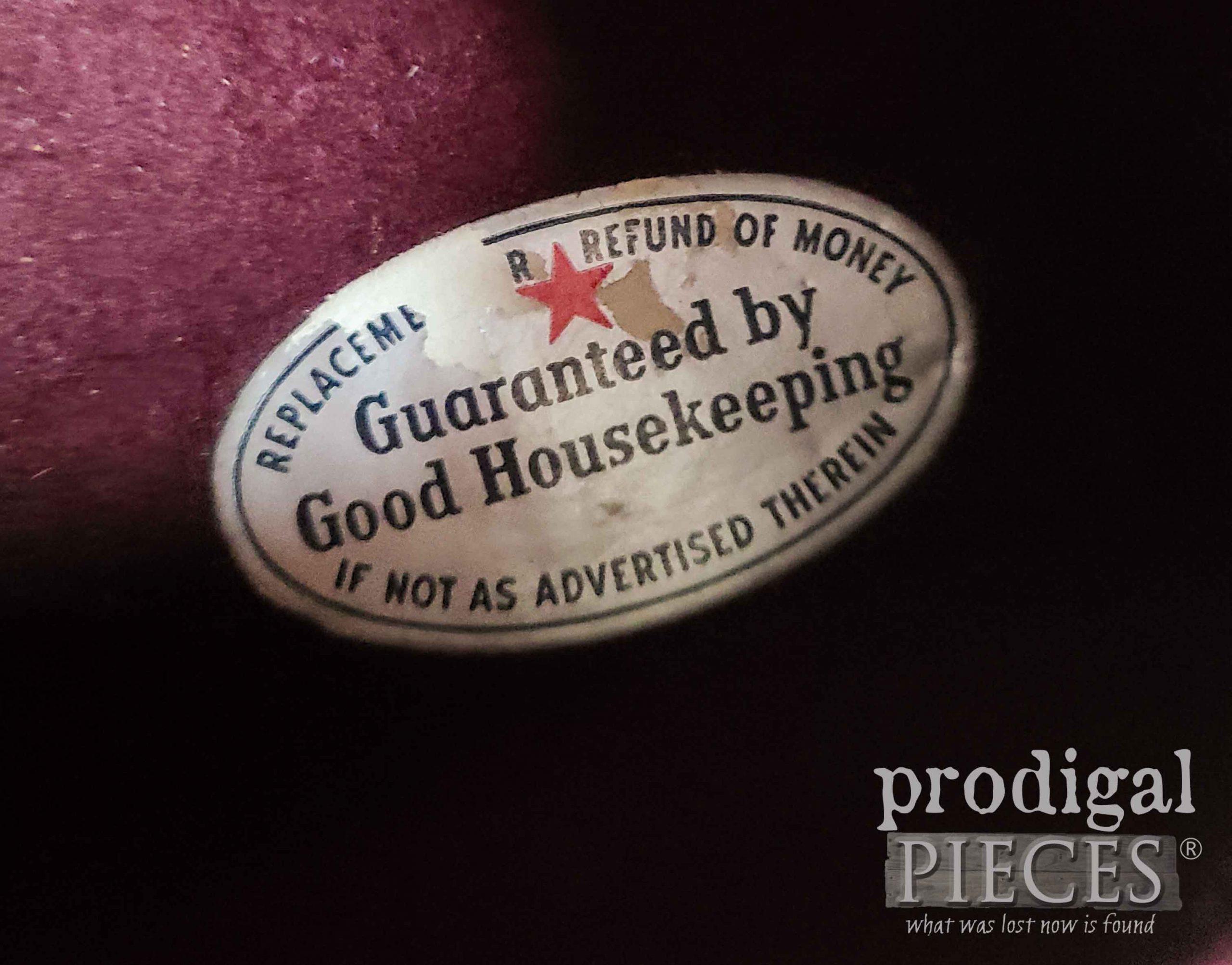 Good Housekeeping Silverware Label   prodigapieces.com