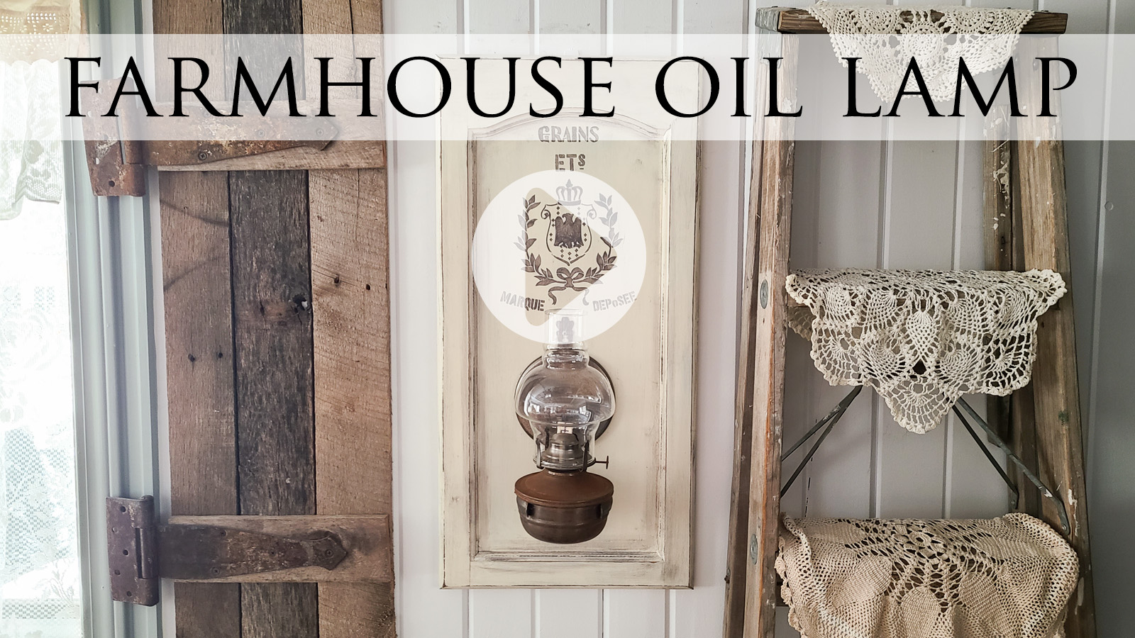 Video Tutorial for DIY Oil Lamp Makeover by Larissa of Prodigal Pieces   prodigalpieces.com #prodigalpieces