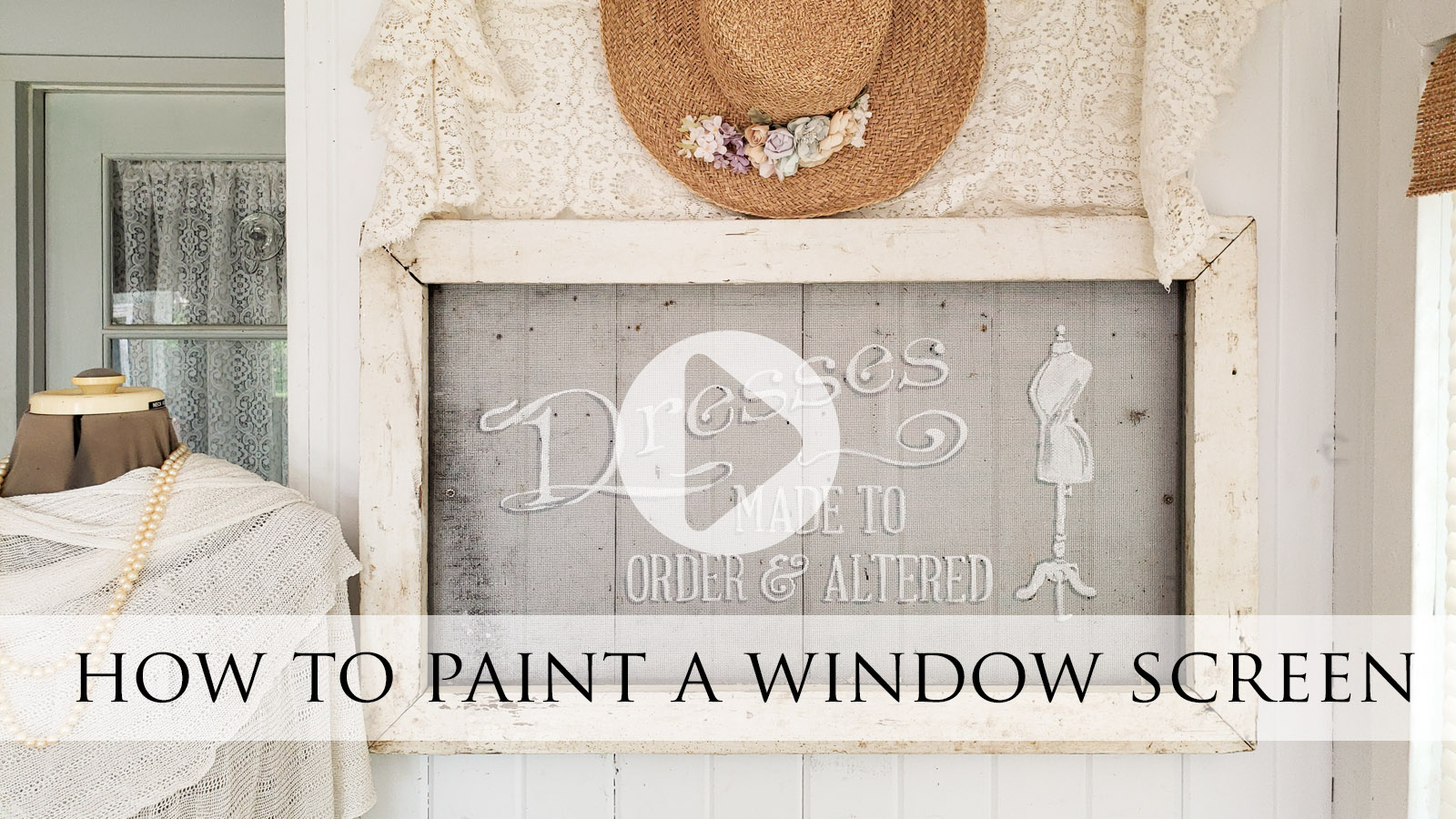 DIY Video Tutorial How to Paint a Window Screen by Larissa of Prodigal Pieces | prodigalpieces.com