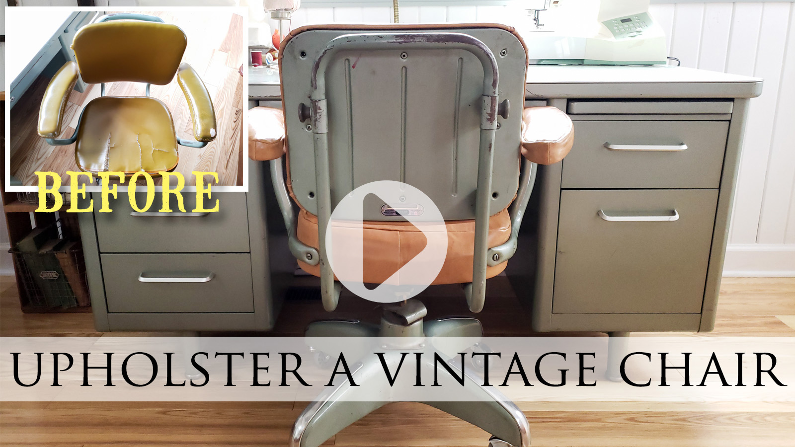 Video Tutorial How to Upholster a Vintage Chair by Prodigal Pieces | prodigalpieces.com #prodigalpieces