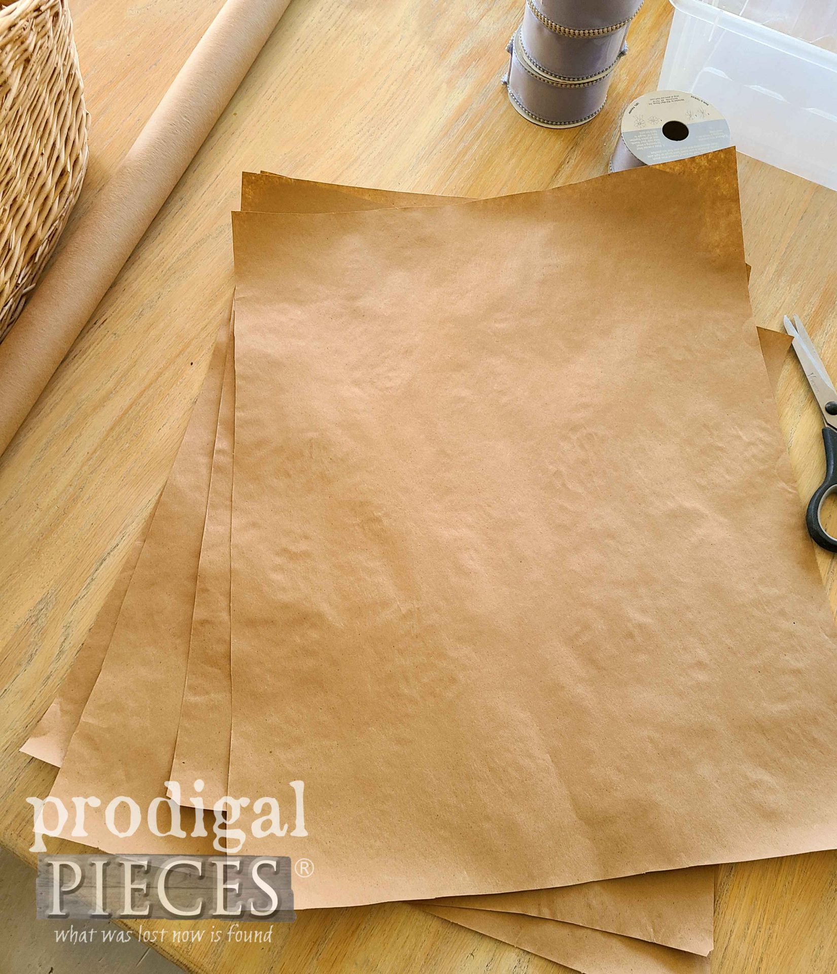 Ironed Brown Paper for Easter Centerpiece | prodigalpieces.com