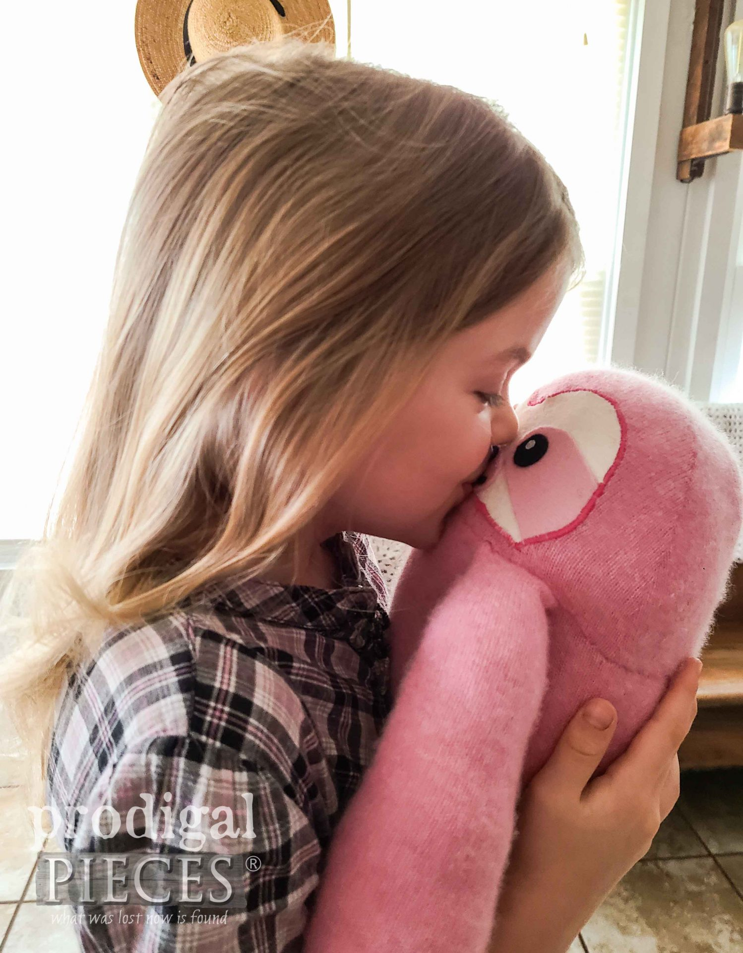 Kissing Upcycled Sweater Sloth Plushie by Larissa of Prodigal Pieces   prodigalpieces.com #prodigalpieces #toy #sewing #refashion #upcycled