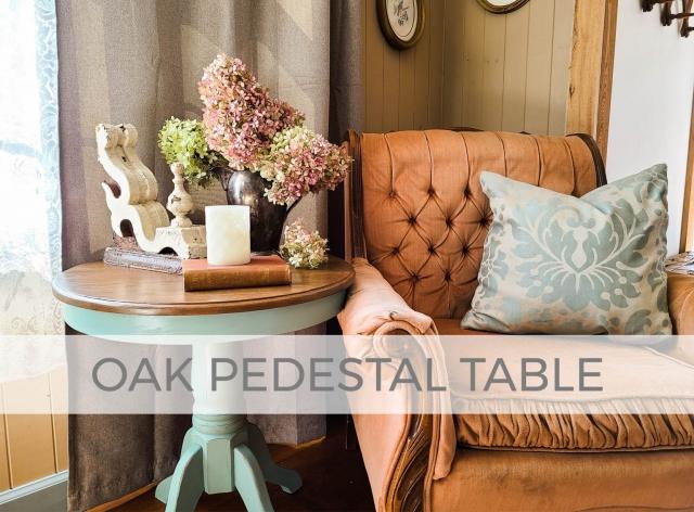 Oak Pedestal Table Makeover & Repair by Larissa of Prodigal Pieces | prodigalpieces.com