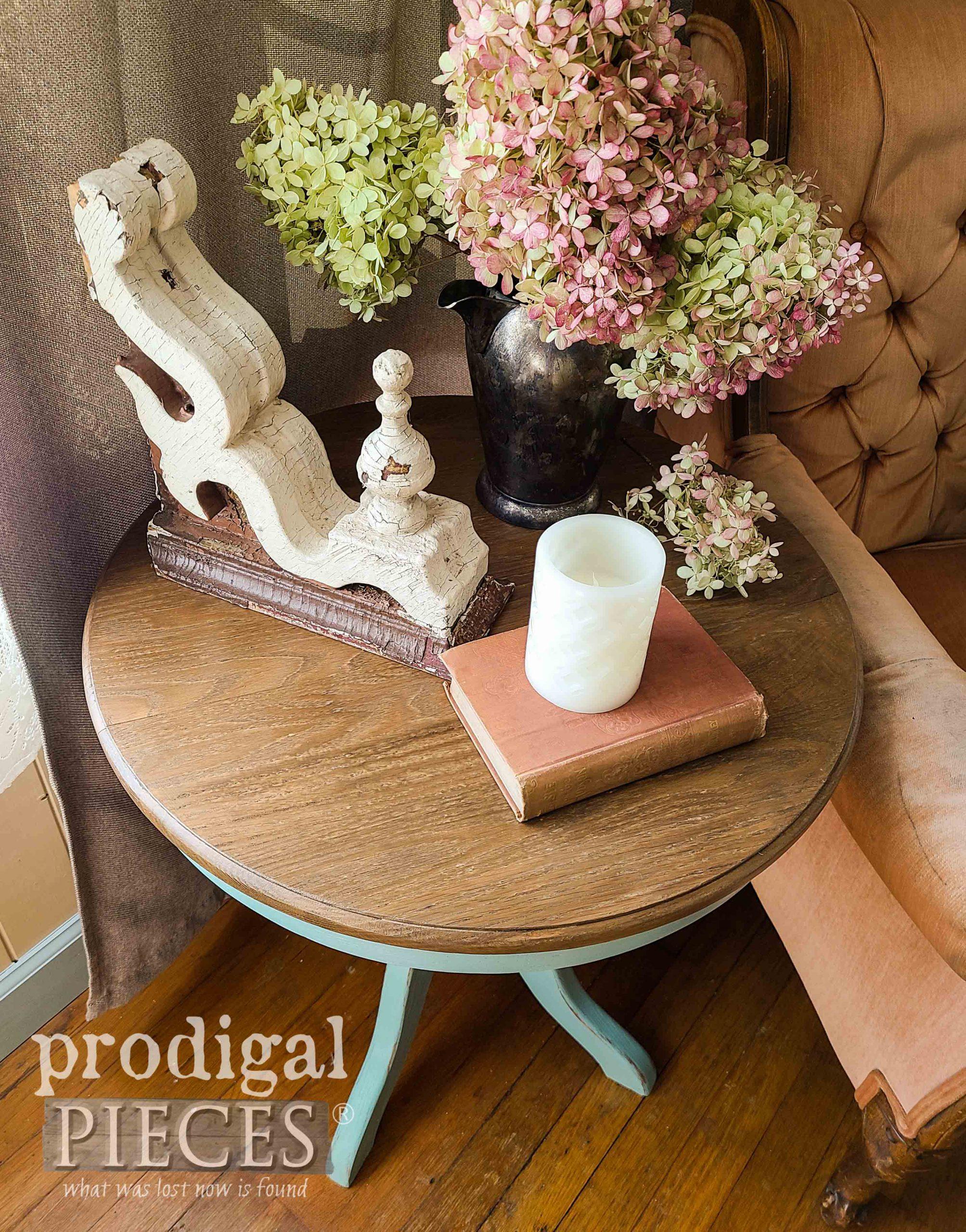 Oak Pedestal Table Top by Larissa of Prodigal Pieces | prodigalpieces.com #prodigalpieces #furniture #diy #home #homedecor