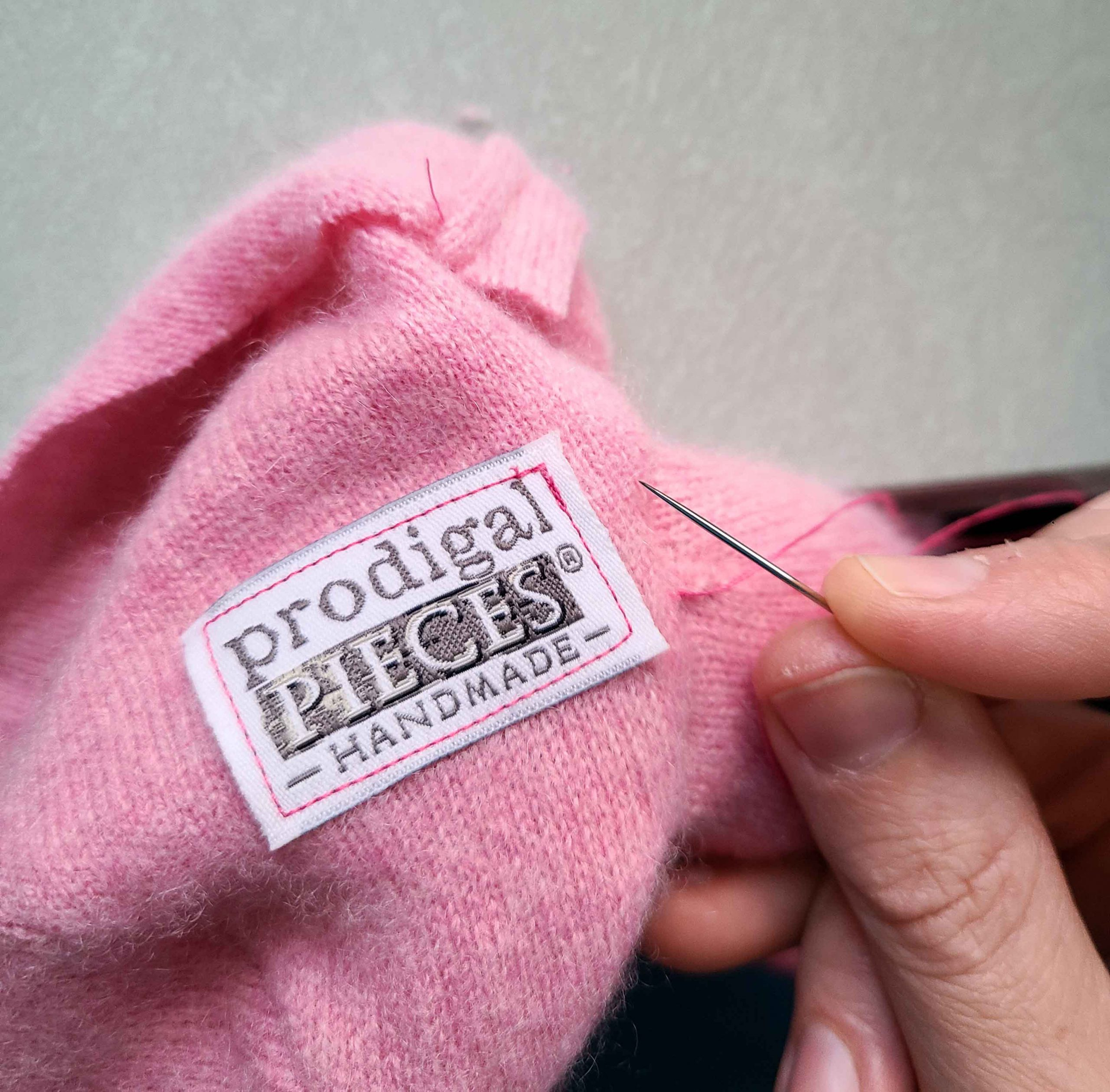 Prodigal Pieces Handmade Label for Upcycled Sweater Sloth | prodigalpieces.com