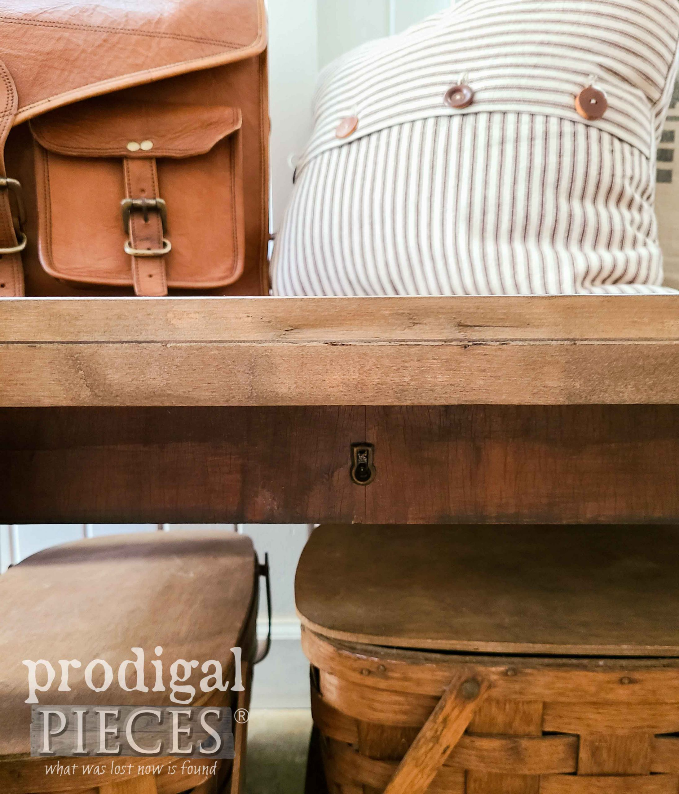 Reclaimed Drawer Fronts as Bench Skirt by Larissa of Prodigal Pieces   prodigalpieces.com #prodigalpieces #diy #reclaimed #furniture