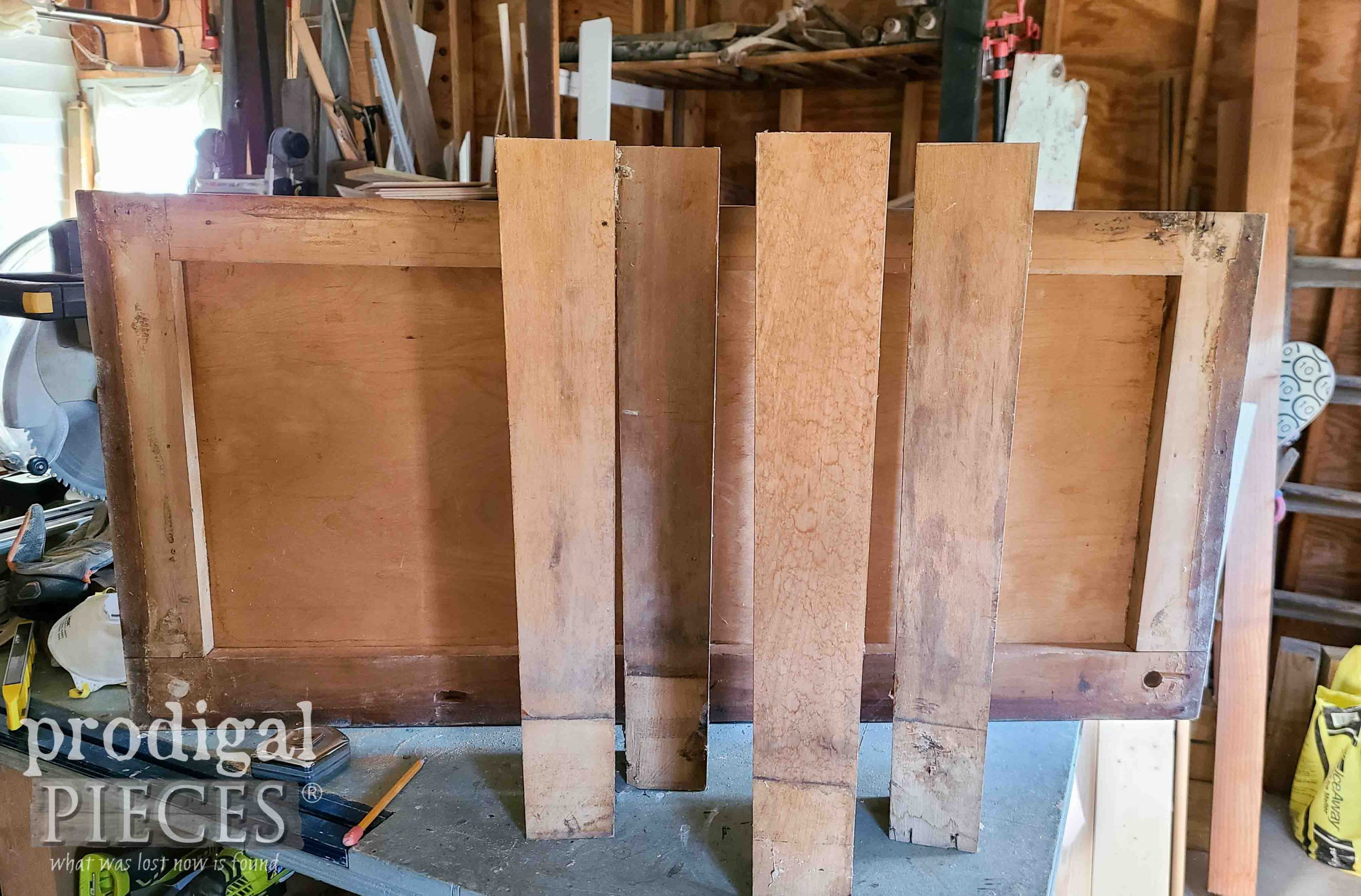 Reclaimed Piano Parts for Bench by Larissa of Prodigal Pieces   prodigalpieces.com #prodigalpieces
