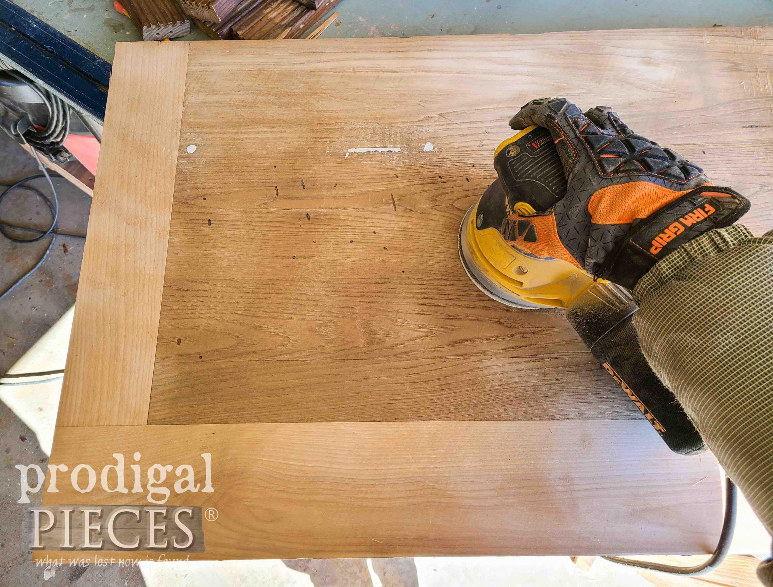 Sanding Removed Dresser Top   Prodigal Pieces   prodigalpieces.com