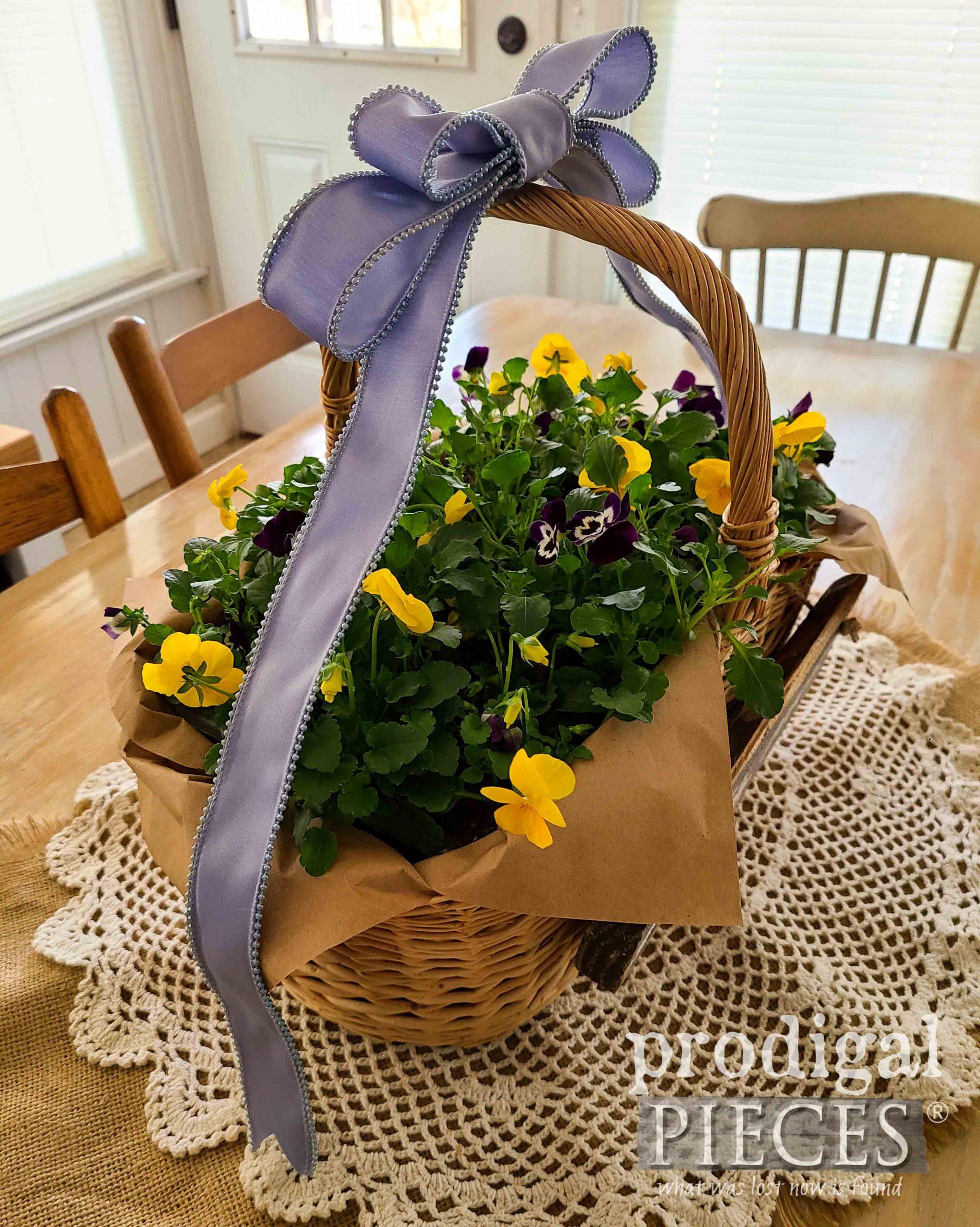 Viola Flower Easter Basket DIY by Larissa of Prodigal Pieces | prodigalpieces.com #prodigalpieces #diy #spring #easter #home #flowers