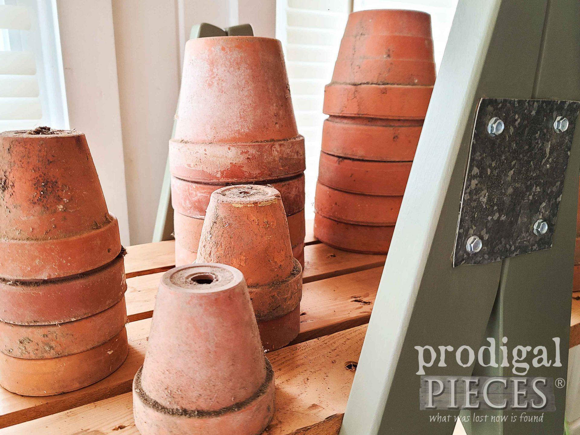 Antique Terra Cotta Pots by Larissa of Prodigal Pieces | prodigalpieces.com #prodigalpieces #garden #home #homedecor