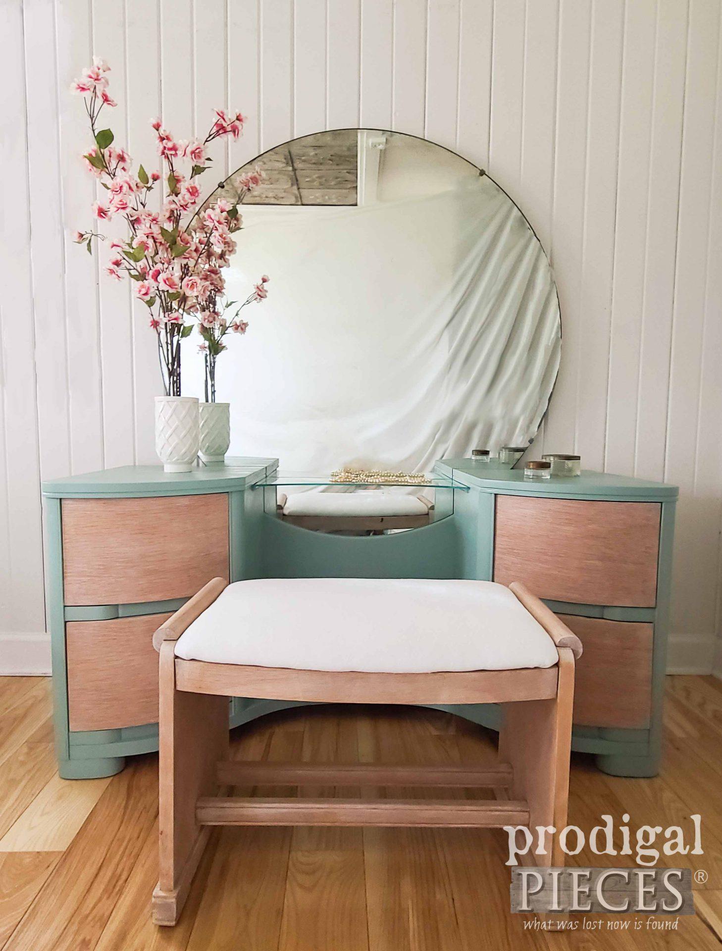 Vintage Art Deco Dressing Table Reveal by Larissa of Prodigal Pieces | prodigalpieces.com #prodigalpieces #furniture #home #artdeco #vintage #diy