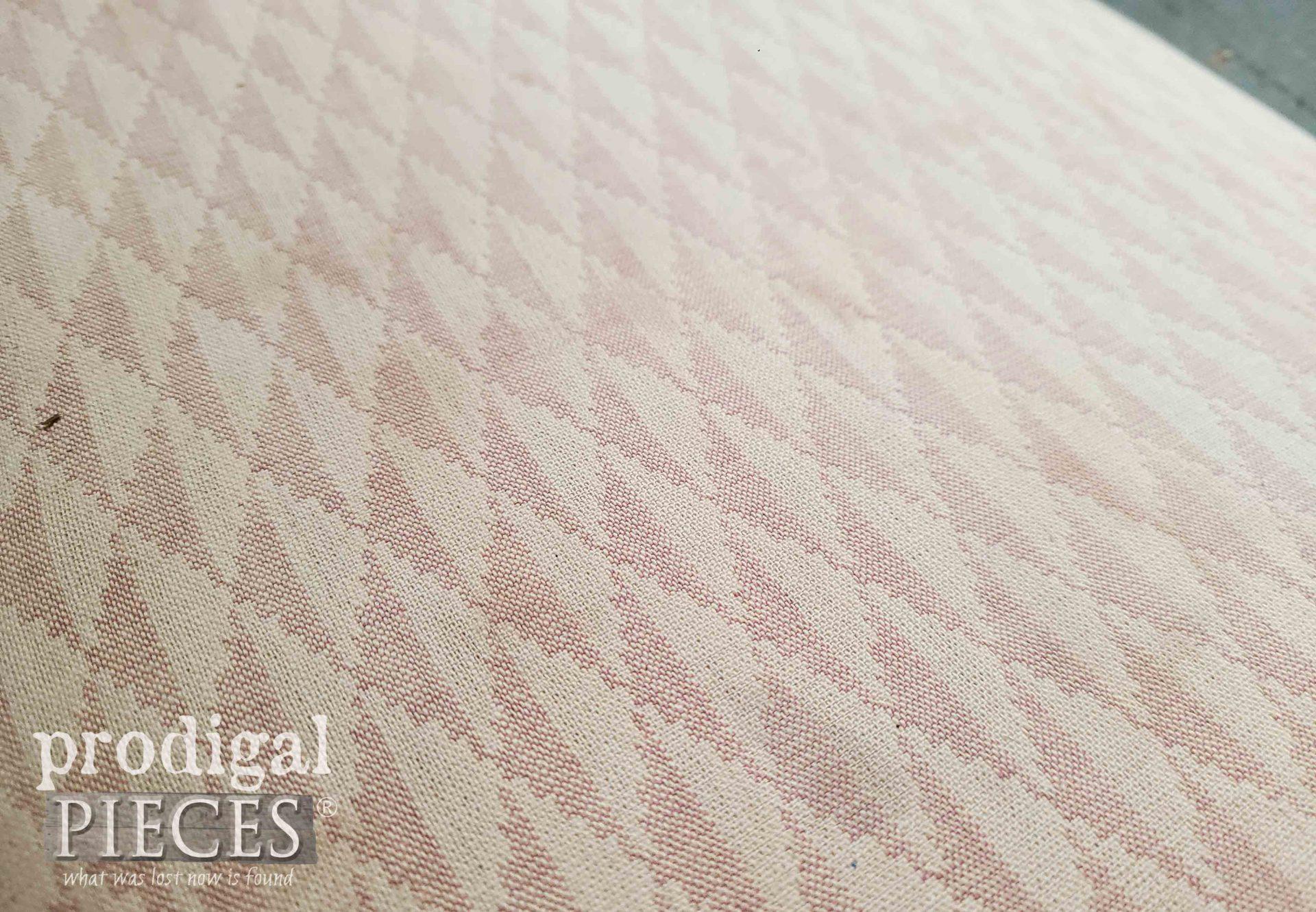 Original Art Deco Fabric on Dressing Table Bench | prodigalpieces.com