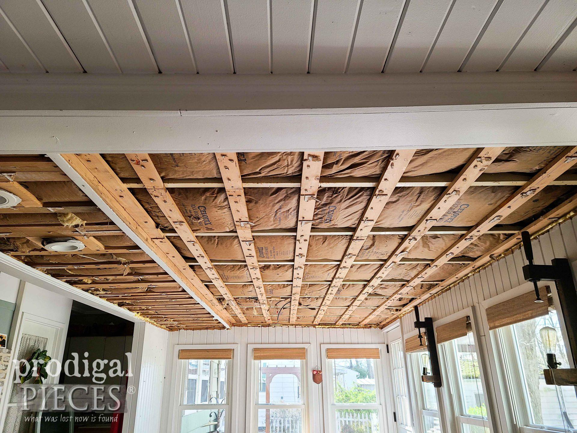 Dining Room Ceiling Teardown | prodigalpieces.com