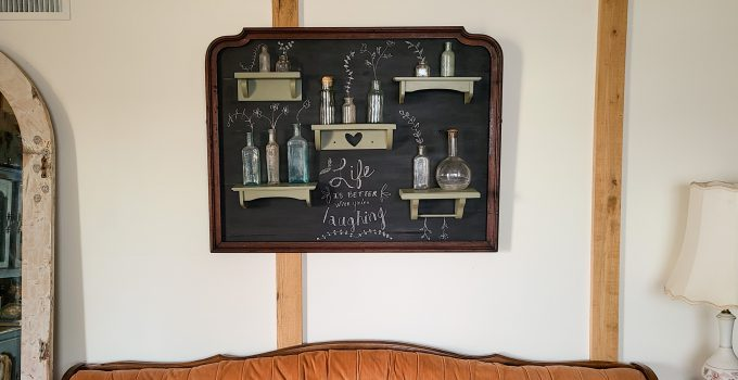 Upcycled Mirror Frame into Wall Decor