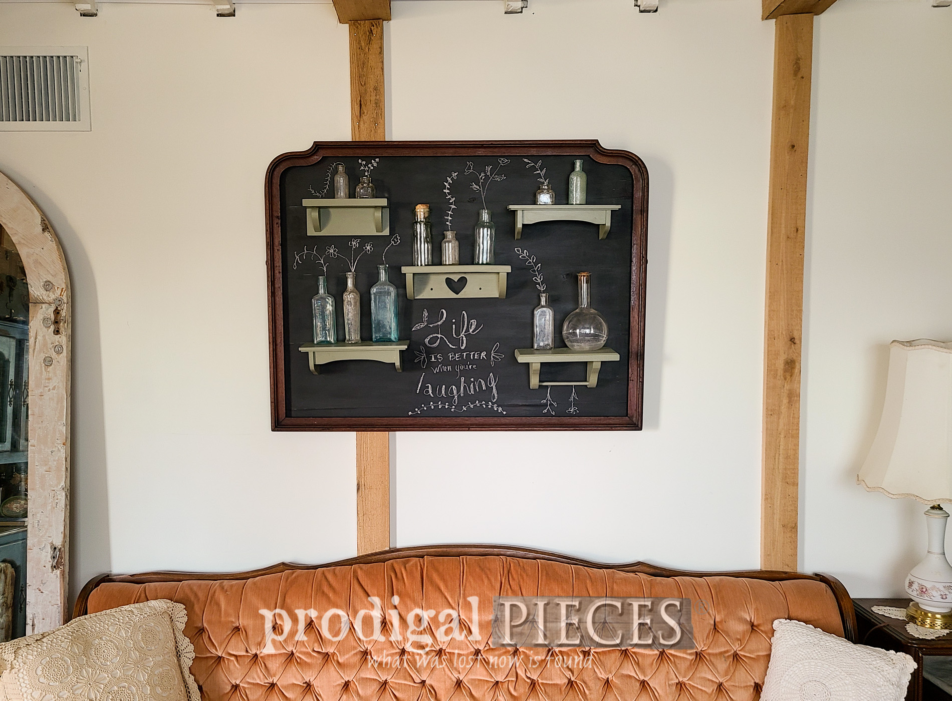 Featured Upcycled Mirror Frame into Chalkboard Style Wall Art by Larissa of Prodigal Pieces | prodigalpieces.com #prodigalpieces #diy #home #homedecor