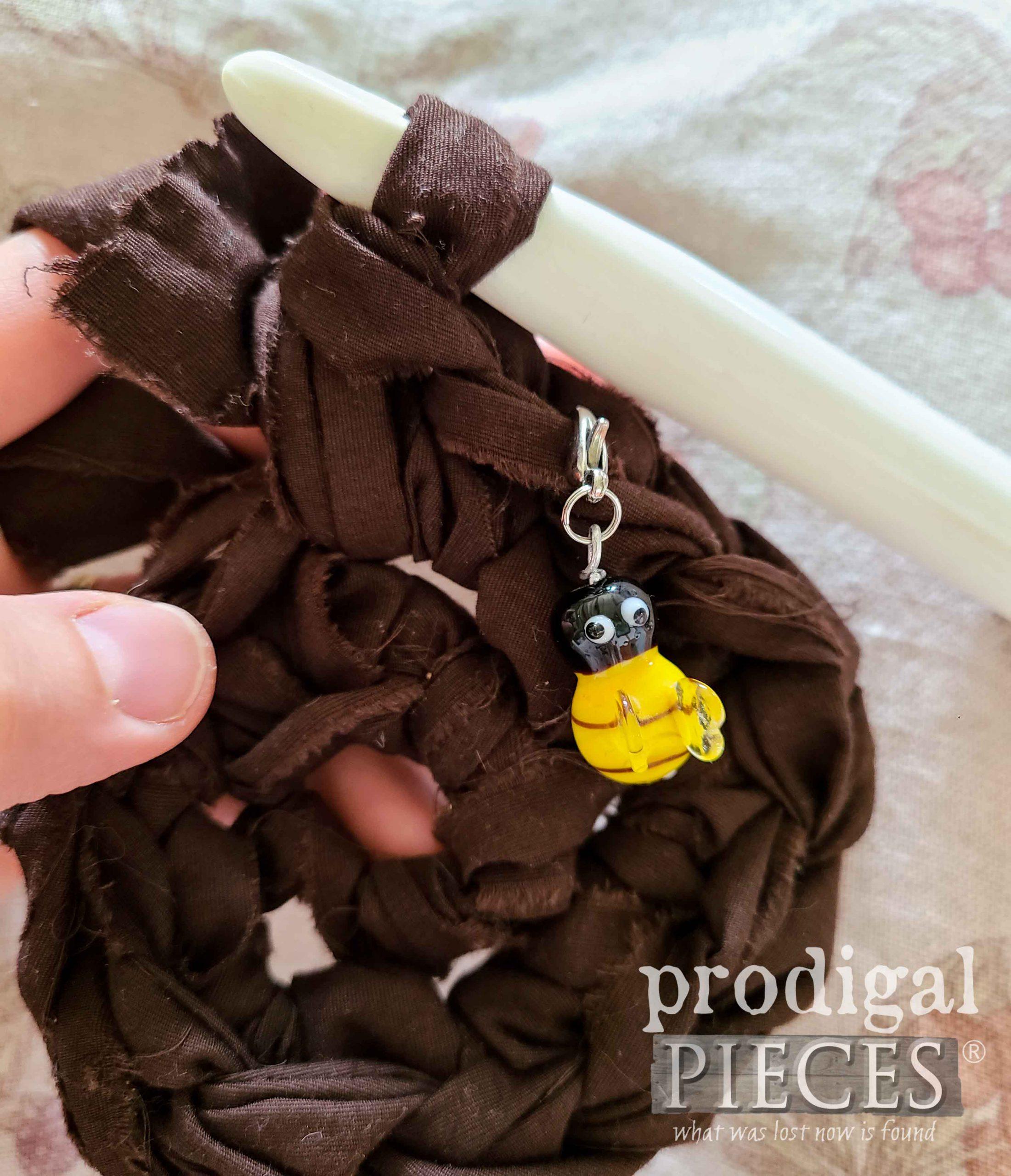 Handmade Honey Bee Crochet Stitch Marker by Prodigal Pieces | prodigalpieces.com #prodigalpieces