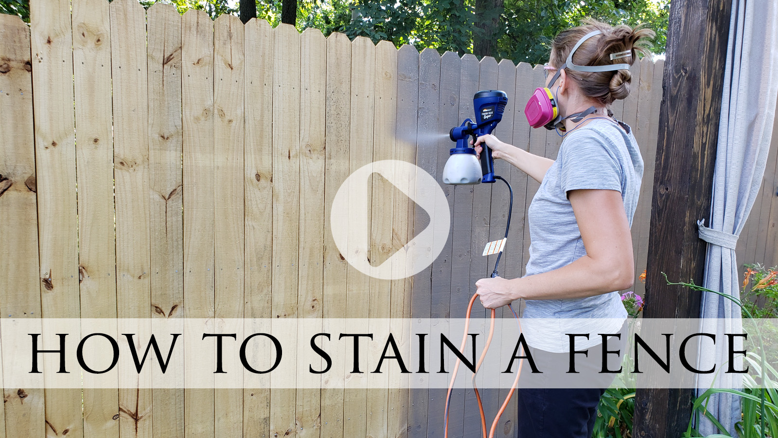 How to Stain a Fence the Easy Way by Larissa of Prodigal Pieces | prodigalpieces.com #prodigalpieces