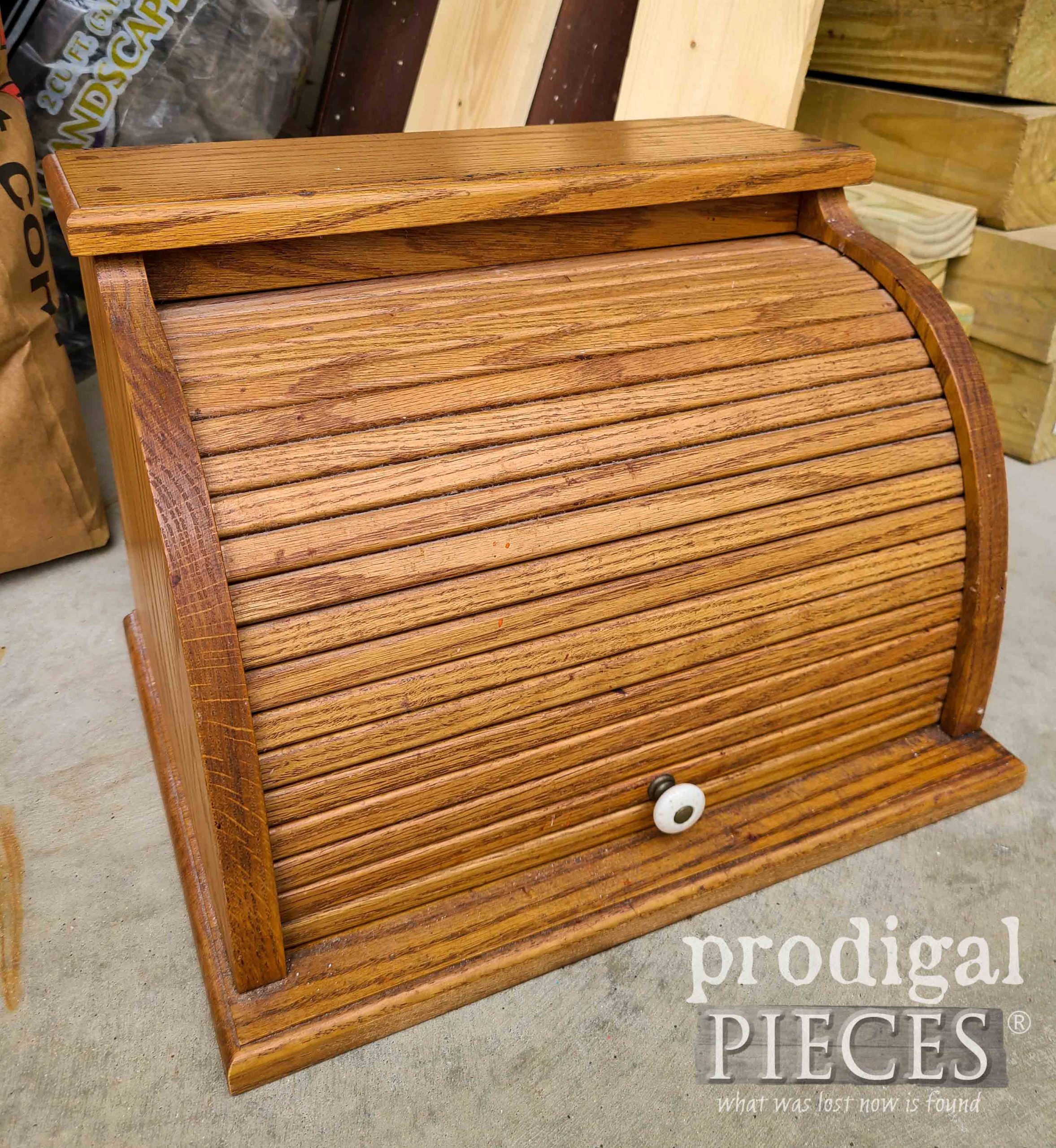 Vintage Bread Box Before Makeover by Larissa of Prodigal Pieces | prodigalpieces.com #prodigalpieces