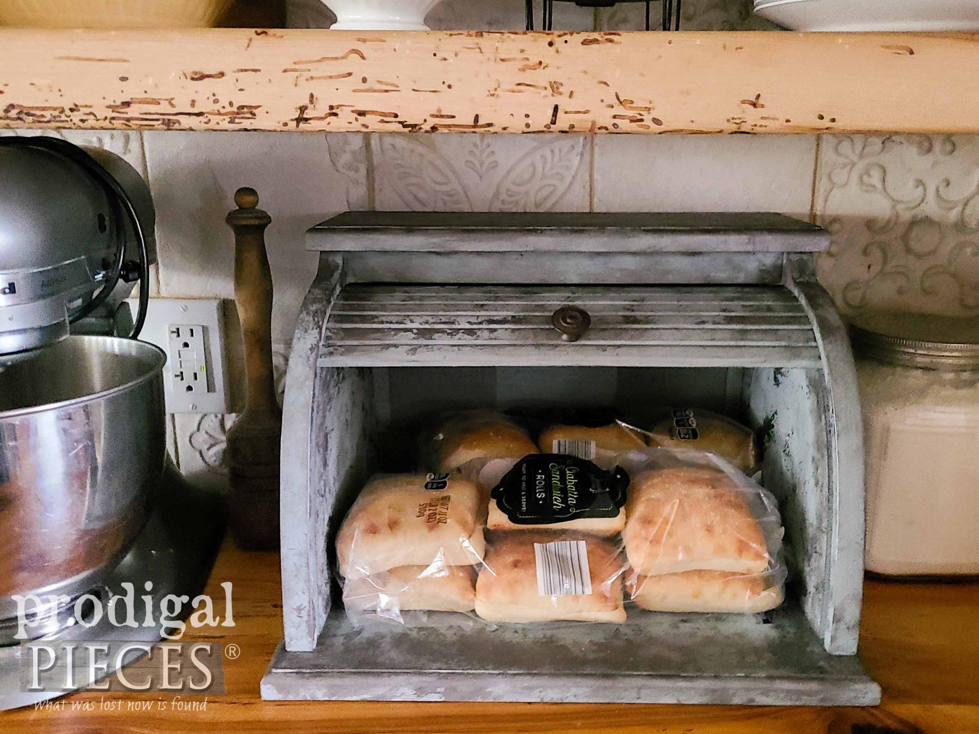 Sourdough Bread in Bread Box by Larissa of Prodigal Pieces | prodigalpieces.com #prodigalpieces #farmhouse #home #kitchen